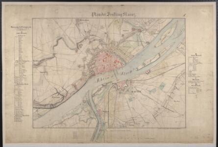 Plan der Festung Mainz