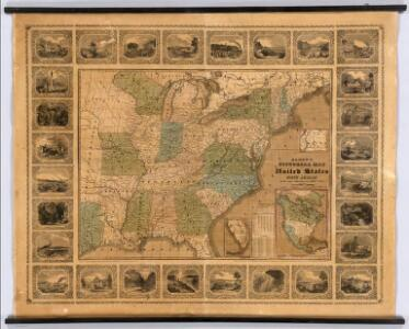 Alden's Pictorial Map Of The United States Of North America.