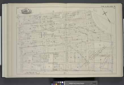 Vol. 4. Plate, B. [Map bound by St. Johns Place, PLaza, Ninth Ave., First St., Fifth Ave.; Including Lincoln Place, Sackett St., Union St., President St., Carroll St., Macomb St., Sixth Ave., Seventh Ave., Polhemus Pl., Fiske Pl., Eighth Ave.]