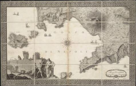 Carta Del Littorale Di Napoli e de luoghi antichi più rimarchevoli di quei Contorni
