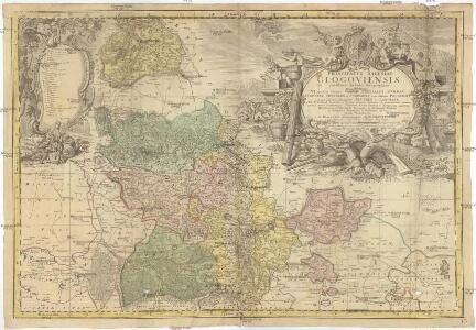 PRINCIPATVS SILESIAE GLOGOVIENSIS novissima Tabula Geographica