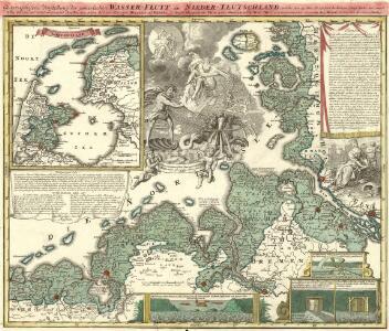 Geographische Vorstellung der jämerlichen Wasser-Flutt in Nieder-Teutschland