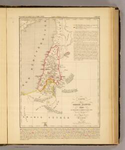 Terre Sainte divisee en royaumes d'Israel et de Juda de 975 a 588.