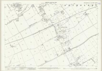 Lincolnshire XLVIII.16 (includes: Grimoldby; Manby; South Cockerington) - 25 Inch Map
