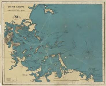 Boston Harbor : showing the steamboat routes to places of amusement