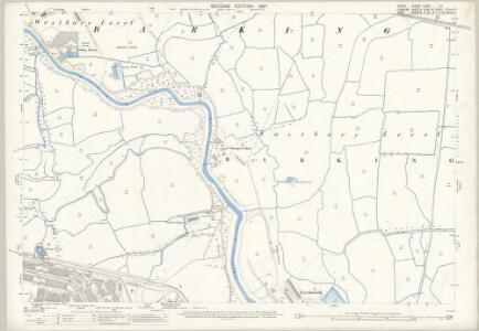 Essex (1st Ed/Rev 1862-96) LXXIV.13 (includes: Barking; Borough Of Woolwich) - 25 Inch Map