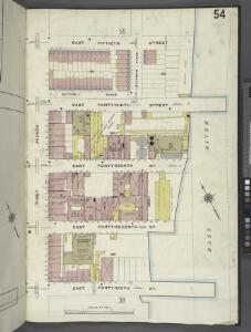 Manhattan, V. 4, Plate No. 54 [Map bounded by E. 50th St., East River, E. 46th St., 1st Ave.]