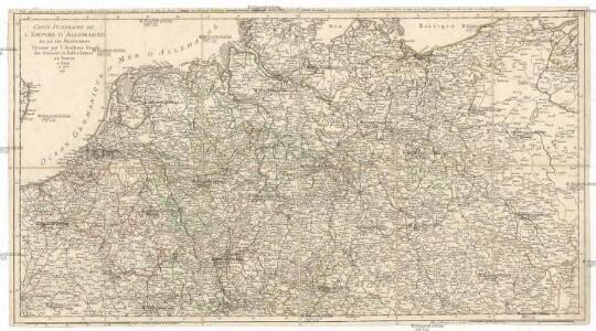 Carte itineraire de l'empire d'Allemagne et des frontieres