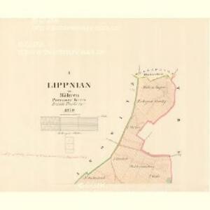 Lippnian - m1570-1-001 - Kaiserpflichtexemplar der Landkarten des stabilen Katasters