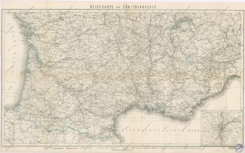 Reisekarte von Süd - Frankreich