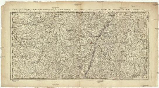 Les frontieres de Lorraine ou sont Espinal S'Diey, Luneville Marsal Vic La Basse Alsace divisée en balliages et seigneuries deça et de la le Rhin ou sont le Grand Balliage dHaugenau, les terres d'Hanau, de l'evesché de la ville de Strasbourg et des nobles les sources de rivieres de la Seille de la Sare de la Meurte et de la Mosele [l]es montagnes noires Sep.les lortnaw le grand marquisat de Bade et partie du Wirtenberg levé sur les lieux pendant les guerres