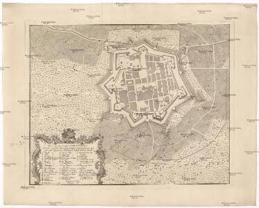 Plan von der Stadt Mirandola A°. 1735. von den Spaniolen belagert und nach einer langen und vigouresen Defension endlich erobert worde[n]