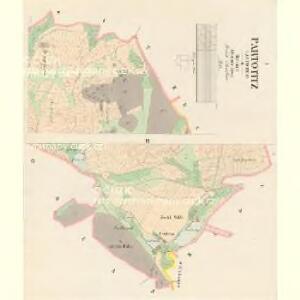 Partotitz (Partoticz) - c5637-1-001 - Kaiserpflichtexemplar der Landkarten des stabilen Katasters