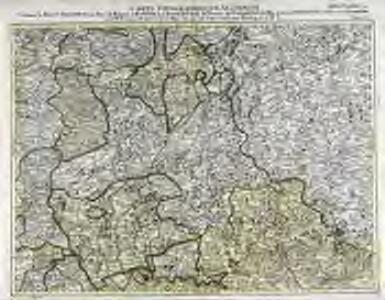 Carte topographique d'Allemagne contenant le Haut Palatinat, une partie du royaume de Boheme, de la Basse Baviere
