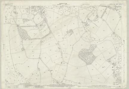 Suffolk LXXIII.4 (includes: Chelsworth; Lindsey; Monks Eleigh; Nedging with Naughton; Semer) - 25 Inch Map
