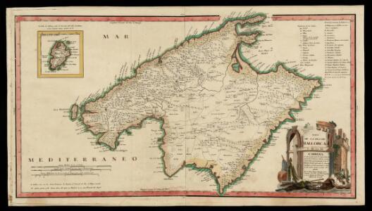 Mapa de la Isla de Mallorca y de la de Cabrera / ... por D. Tomas López. Madrid, 1773