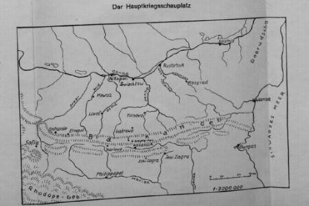 Karten zum russisch-türkischen Krieg 1877-1878. Der Hauptkriegsschauplatz