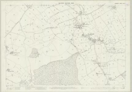 Somerset XLIII.9 (includes: Nunney; Trudoxhill; Wanstrow) - 25 Inch Map