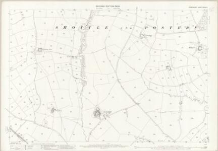 Derbyshire XXXIX.15 (includes: Hazlewood; Idridgehay and Alton; Shottle and Postern; Turnditch) - 25 Inch Map