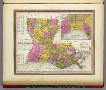 New Map Of Louisiana.