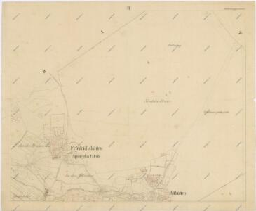 Katastrální mapa obce Nemanice spolu s obcemi Nová Huť a Stará Huť