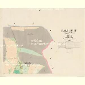 Kallischt (Kallisste) - c2987-1-002 - Kaiserpflichtexemplar der Landkarten des stabilen Katasters