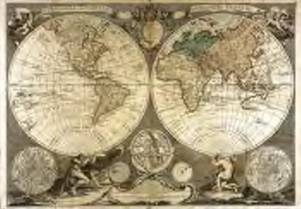 Mappe monde, contenant les parties connues du globe terrestre
