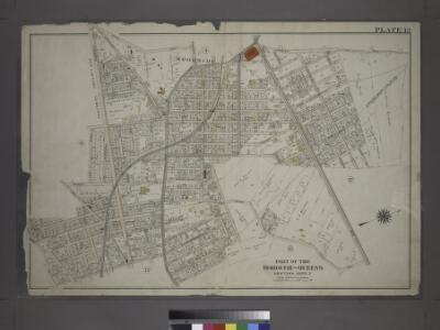 [Plate 13: Bounded by Astoria Road, Middleburg Avenue, Woodside Avenue, Bowery Bay Road, Jamaica Avenue, Grand Gleasonville Avenue, Charlotte Avenue, 10th Street, Jackson Avenue, Trains Meadow Road, Forest Street, Worthington Street, Woodside Avenue, Fis