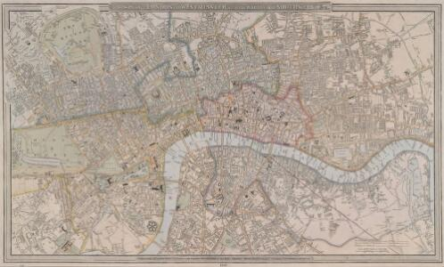 A NEW PLAN OF LONDON AND WESTMINSTER WITH THE BOROUGH OF SOUTHWARK 236
