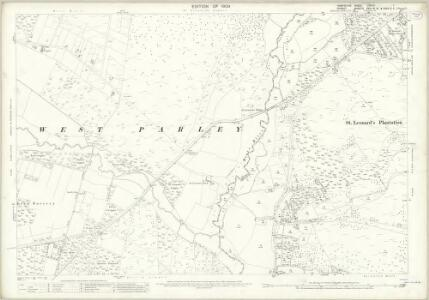 Hampshire and Isle of Wight LXXVIII.1 (includes: Hampreston; St Leonards and St Ives; West Parley) - 25 Inch Map