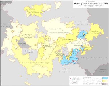 Fürstentum Reuß jüngere Linie (Schleiz) 1848 in der thüringischen Staatenwelt
