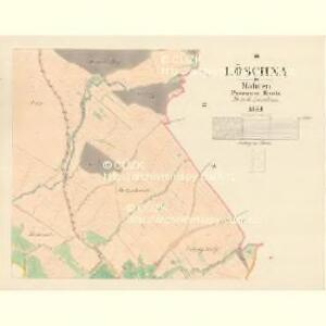 Löschna - m1503-1-002 - Kaiserpflichtexemplar der Landkarten des stabilen Katasters