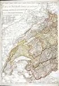 Carte de Suisse suivant sa nouvelle division en XVIII cantons formant la République Helvétique, 1