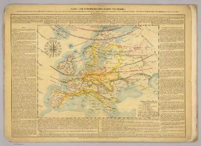 Klima- und Naturproducten-Karte von Europa.