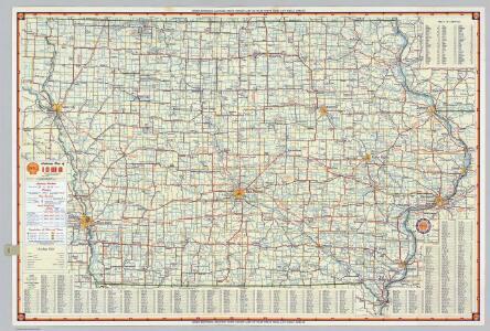 Shell Highway Map of Iowa.