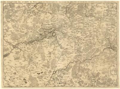 Carte particuliere des environs de Mons d'Ath, de Charleroy, de Maubeuge, du Quesnoy, de Conde, et Autres