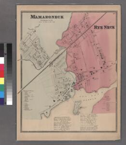 Plate 43: Mamaroneck, Westchester Co. N.Y. - Rye Neck.