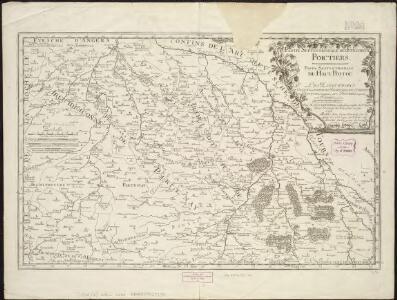 Partie septentrionale de l'evesché de Poictiers : partie septentrionale du Haut-Poitou : les eslections de Chastelleraud, de Richelieu, de Loudun ...