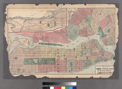 Plates 11 & 12: Map of New York City and central portion of Brooklyn.