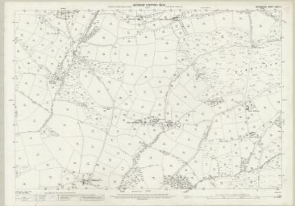 Devon XXXIII.11 (includes: Rackenford; Witheridge) - 25 Inch Map