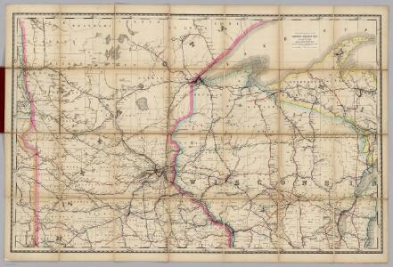 (Wisconsin, Minnesota) Railroad Map of the United States.