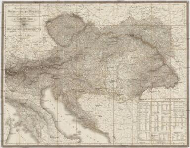 Topographische Karte der Oesterreichischen Monarchie mit Angabe aller Post-Strassen