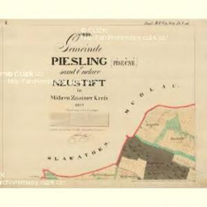 Piesling - m2287-1-001 - Kaiserpflichtexemplar der Landkarten des stabilen Katasters
