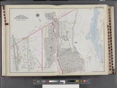 Westchester, V. 2, Double Page Plate No. 5 [Map bounded by Town of Green Hurgh, Grassy Sprain Rd., Sherman Ave., Odell Ave., Hudson River]