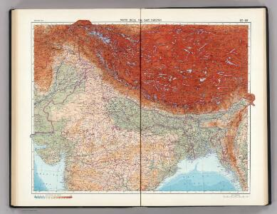 137-138.  North India, Nepal, East Pakistan.  The World Atlas.