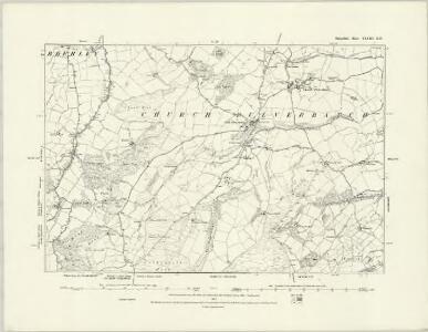 Shropshire XLV.SW - OS Six-Inch Map