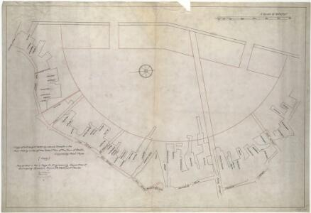 Plan of wharves of Boston from Batterymarch Street to Fleet Street
