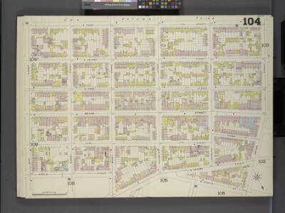 Brooklyn V. 4, Double Page Plate No.104 [Map bounded by S. 3rd St., Driggs St., N. 4th St., Ainslie St., Keap St.]