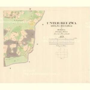 Unter Beczwa (Dolni Beczwa) - m0477-1-010 - Kaiserpflichtexemplar der Landkarten des stabilen Katasters
