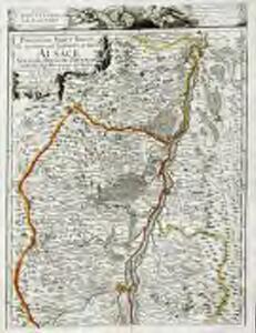 Partie du Haut Rhein, où se trouvent la Haute et Basse Alsace, Suntgow, Brisgow, Ortenaw, et partie des marquisats de Baden, 1
